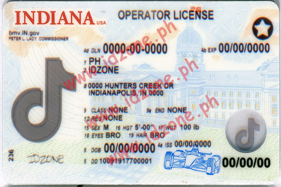 FAKE ID INDIANA Scannable fake id