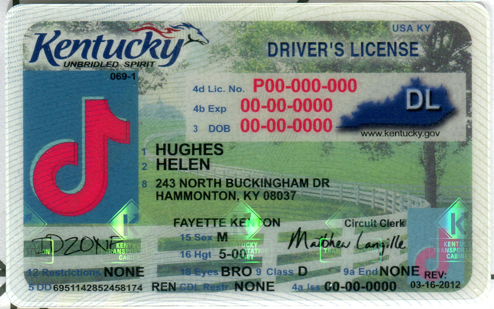 KENTUCKY fake id