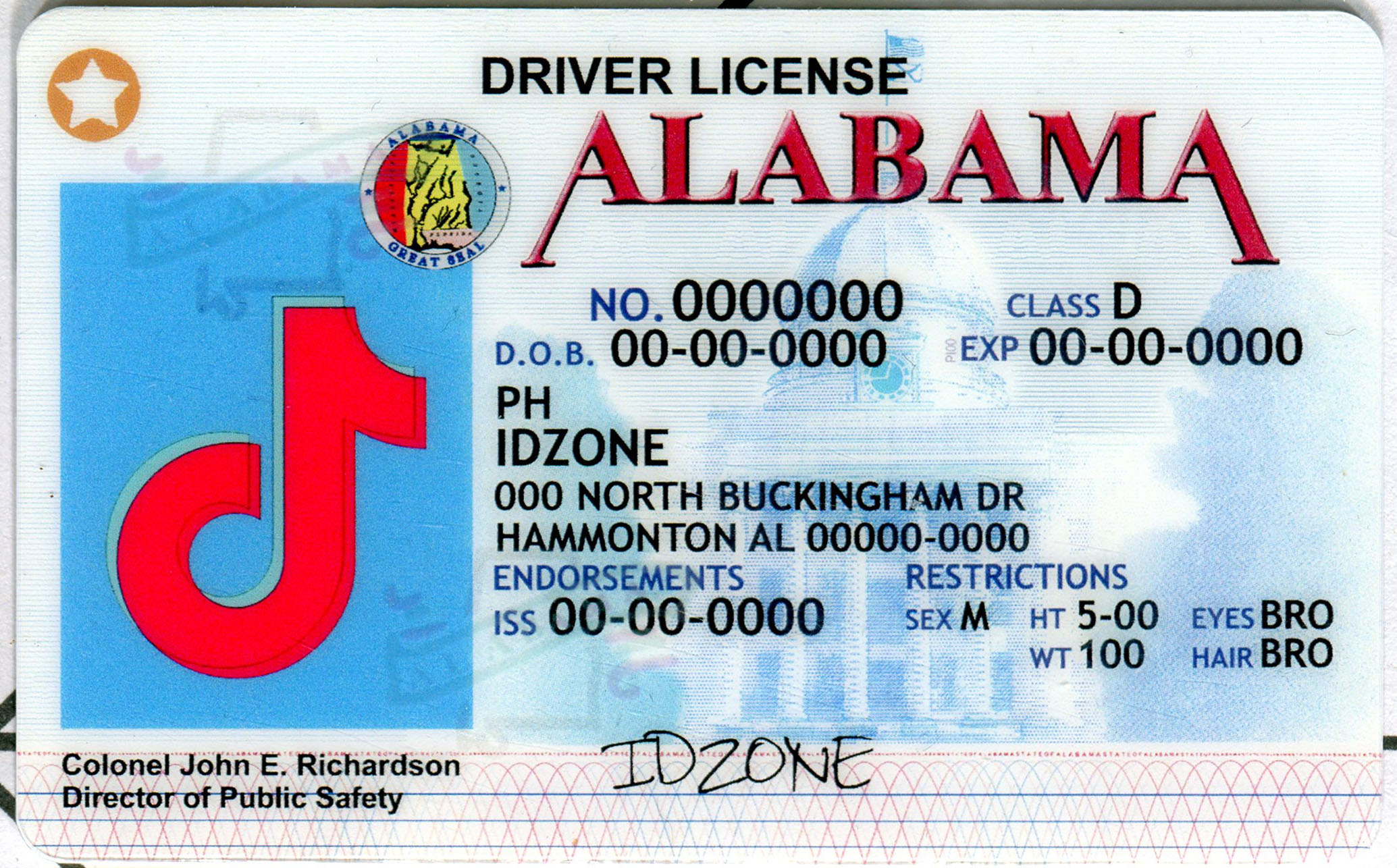 ALABAMA fake id