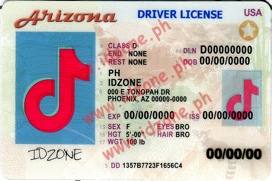 FAKE ID AZ Scannable fake id
