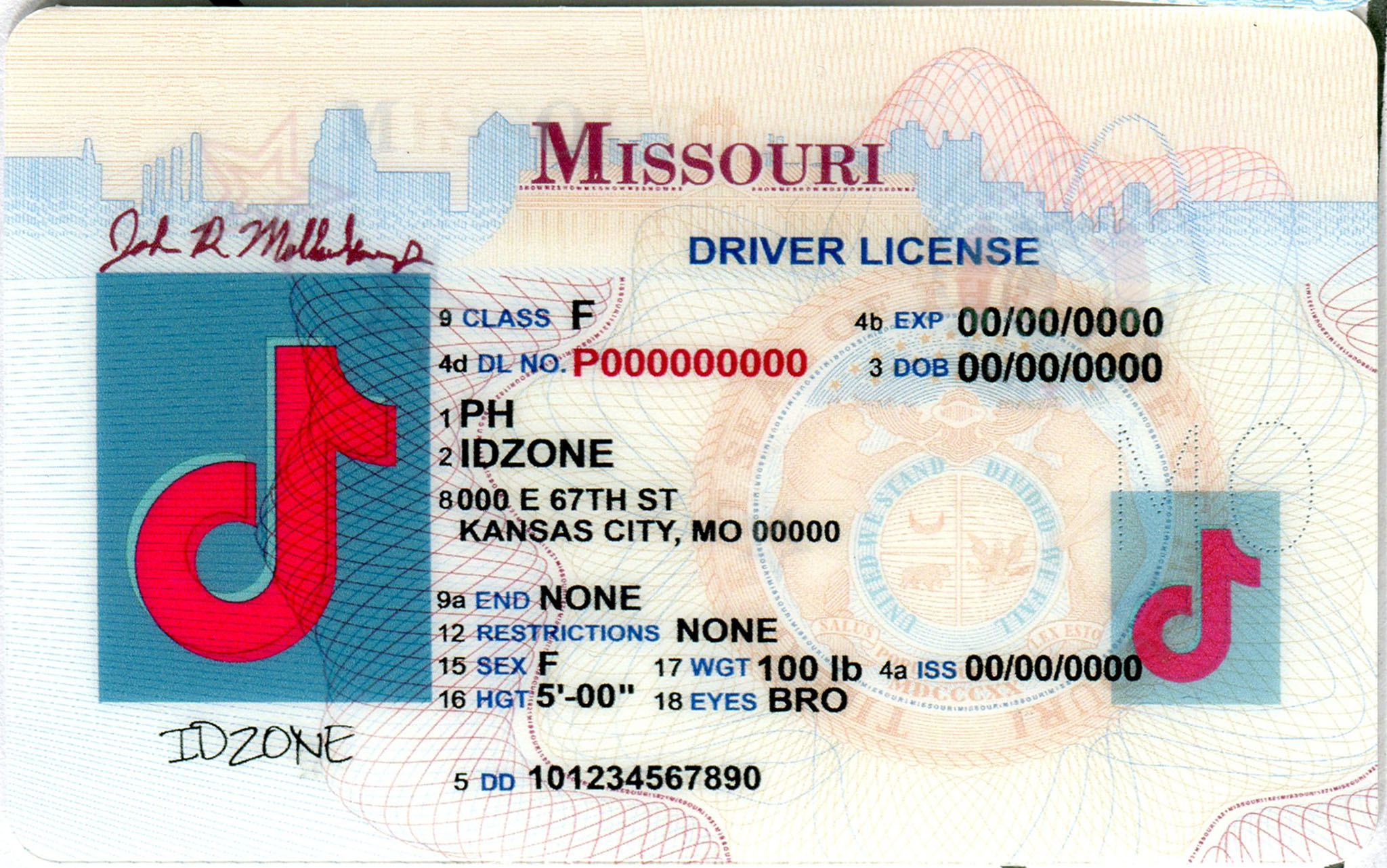 MISSOURL Scannable fake id