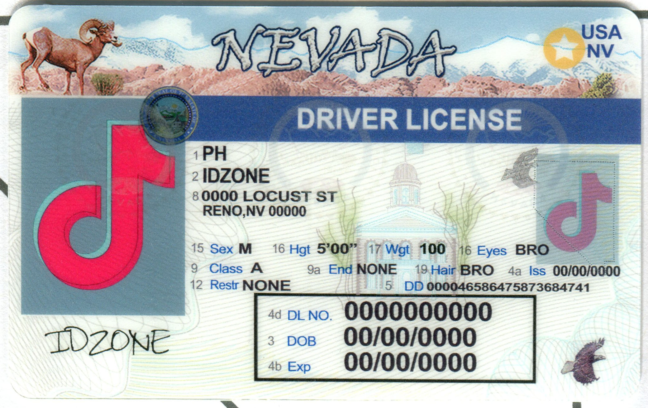 NEVADA buy fake id