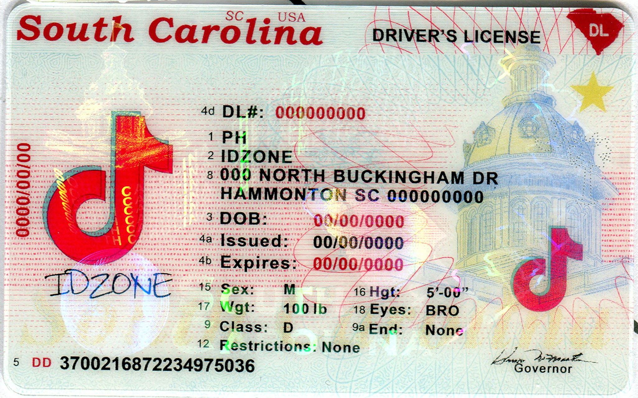 SOUTH  CAROLINA-New fake id