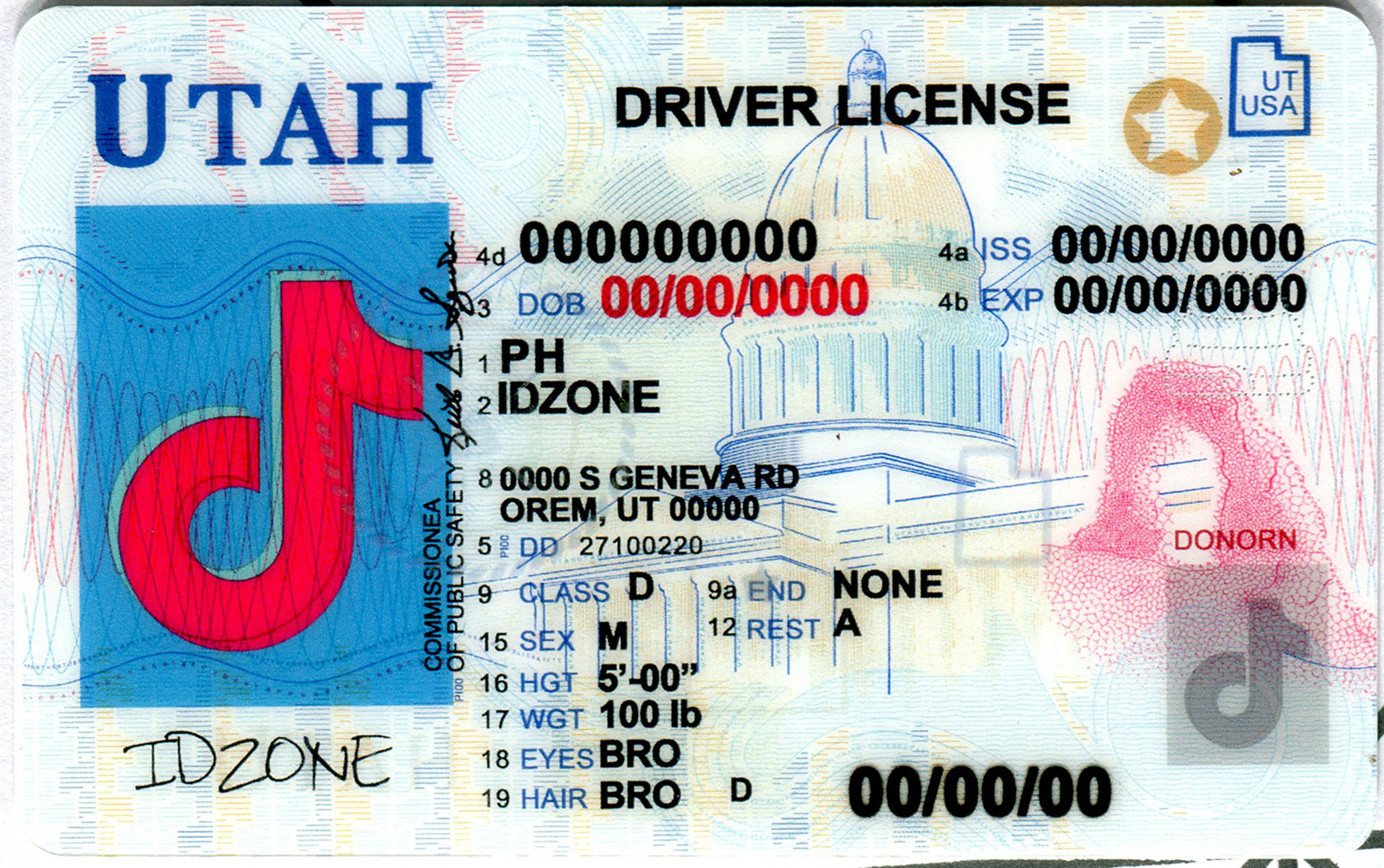 UTAH-New Scannable fake id