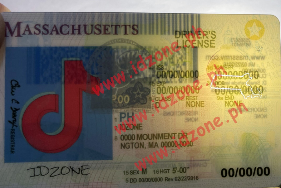 fake id MASSACHUSETTS Scannable fake id